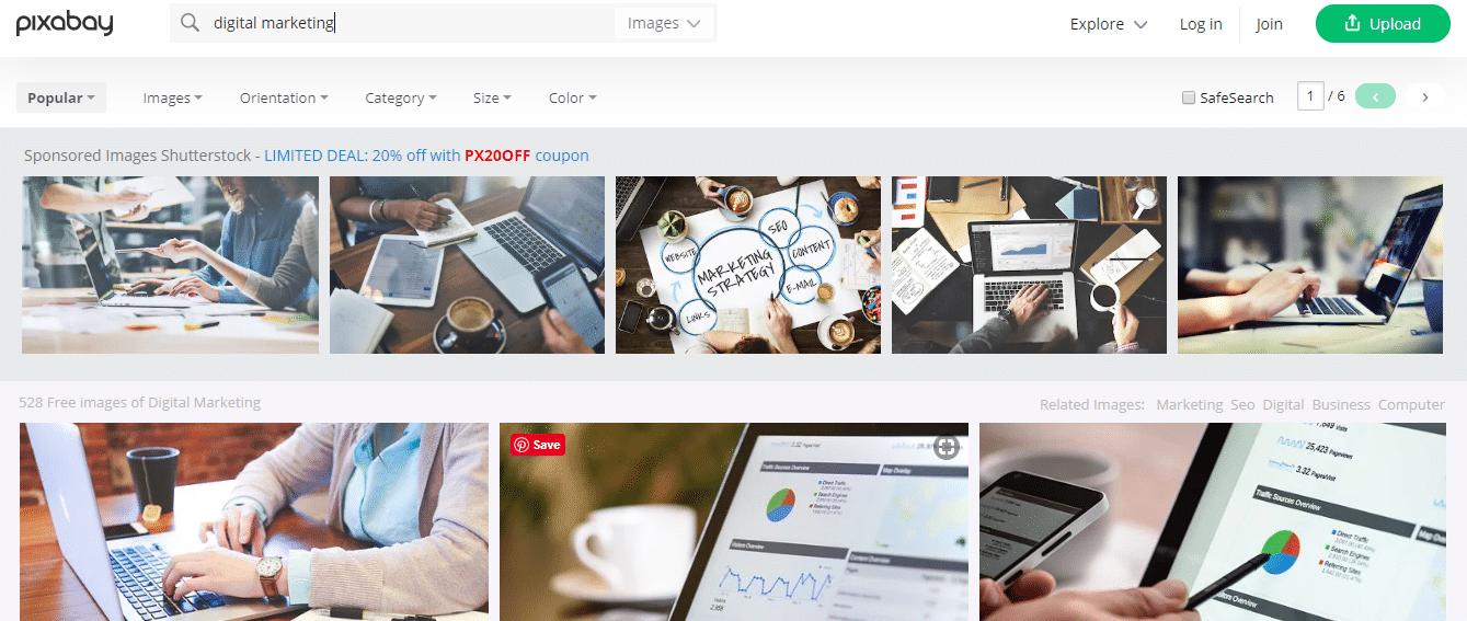 Pixabay Free Blogging Tool