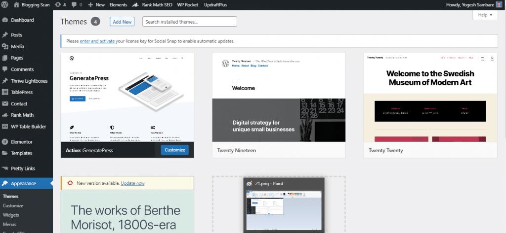 generatepress theme section