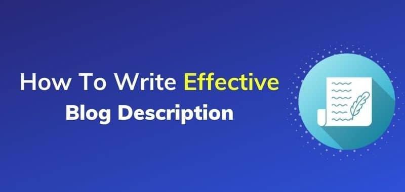 how to write effective blog description feature image