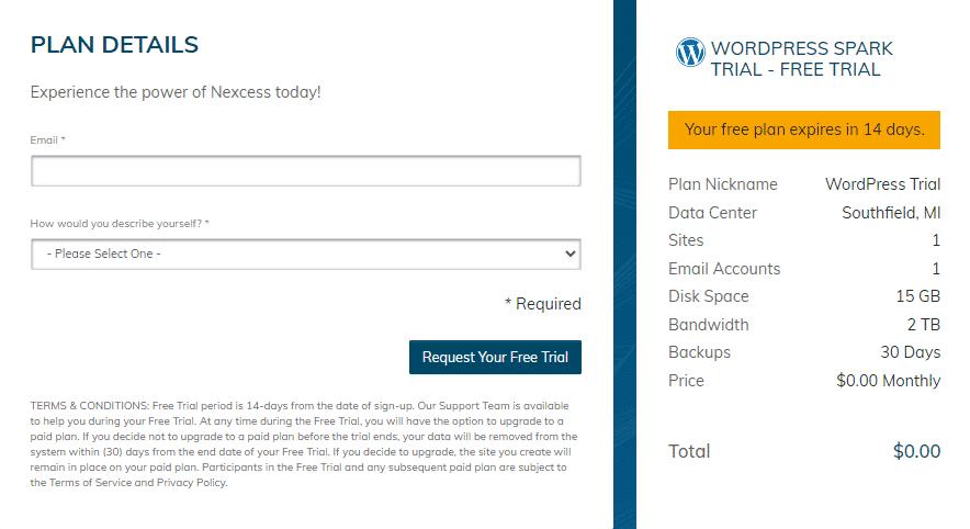 30 day free web hosting trial of liquid web hosting