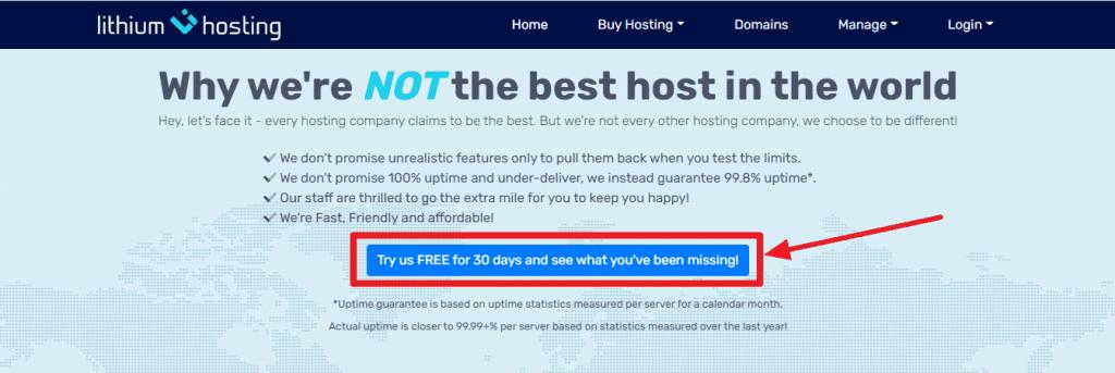Lithium web hosting free trial